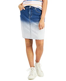 Bleach-Dye Denim Skirt, Created for Macy's