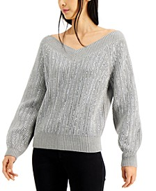 INC Embellished Sweater, Created for Macy's