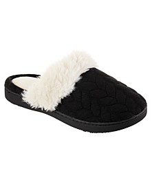 Isotoner Women's Textured Jersey Knot Ansley Comfort Clog Slippers