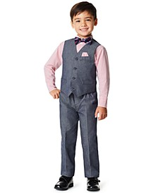 Little Boys Iridescent Twill 4 Piece Vest Set