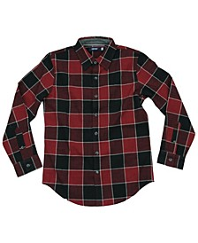 Big Boys Alberta Twill Plaid Woven Shirt