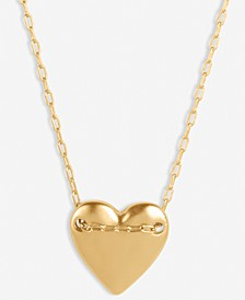 """Gold-Tone Heart Chained Pendant Necklace, 18"""" + 2"""" extender"""