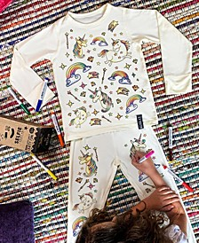 Unicorn Color In Pajamas With Fabric Pens Craft Kit