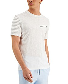 INC Men's Slant Zip T-Shirt, Created for Macy's