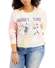 Trendy Plus Looney Toons Tie-Dyed Long-Sleeve T-Shirt