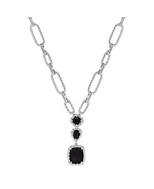 "Onyx Multi Link Chain 20"" Necklace in Sterling Silver"