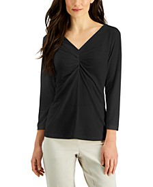Ruched V-Neck Top