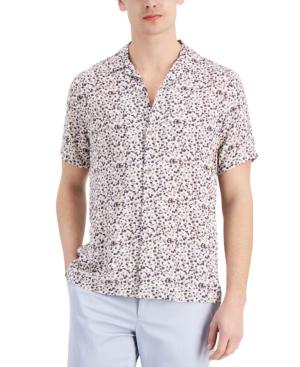 Men's Tropical Print Camp Shirt