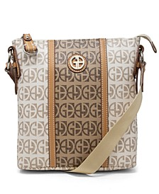 Contrast Stripe Signature Crossbody, Created for Macy's
