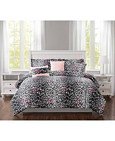 Ombre Leopard Comforter Sets