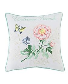 "Welcome Friends 18"" x 18"" Decorative Pillow"