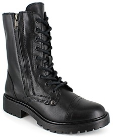 Women's Rosaline Mid-Calf Laceup Leather Boots
