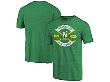 Minnesota North Stars Men's Tri-blend Crease T-Shirt