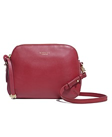 Dukes Plalce Medium Smooth Leather Ziptop Crossbody