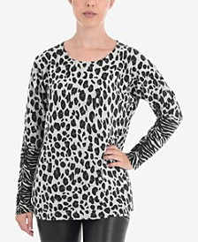 Animal Print Pullover Sweater
