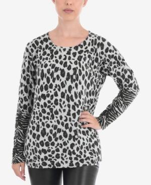 Animal Print Pullover Sweater