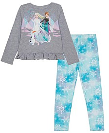 Little Girls Frozen Forest Legging Set