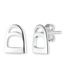 Sterling Silver Stirrup Stud Earring