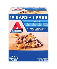 Caramel Chocolate Nut Roll Bar, 1.55 oz, 20 Count