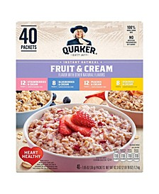 Instant Oatmeal Fruit Cream Variety Pack, 40 Count