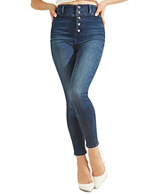 Conny Button-Fly Skinny Jeans