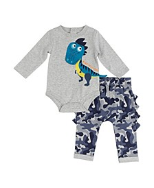 Boys Dino 2-Pc. Pants Set