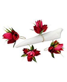 Valentine's Day Tulip Napkin Rings, Set of 4, Created for Macy's
