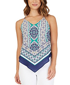 Juniors' Bandana-Print Top