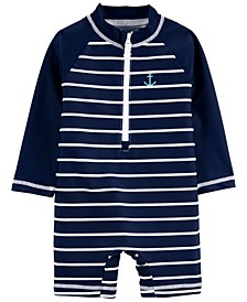 Baby Boys Striped 1-Piece Rash Guard