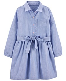 Toddler Girls Chambray Woven Dress
