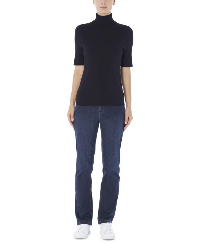 Jones New York Women's Short Sleeve Turtleneck Sweater & Reviews - Sweaters - Women - Macy's