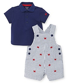 Baby Boys Crab Shortall Set