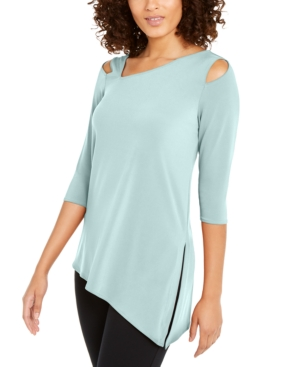 Alfani Tops COLD-SHOULDER ASYMMETRICAL TOP, CREATED FOR MACY'S