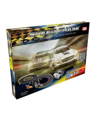 Speed Chase Road Racing Slot Car Set - Battery Operated