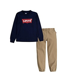 Little Boys 2 Piece T-shirt and Joggers Set