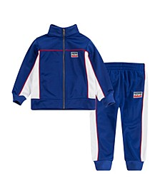 Little Boys Colorblock 2 Piece Tracksuit Set