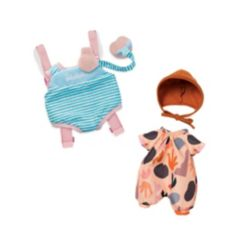 """Manhattan Toy Company Wee Baby Stella Botanical Garden and Travel Time 12"""" Baby Doll Clothing Set"""