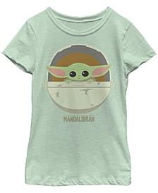 Star Wars- Mandalorian Big Girl's Cute Bassinet Short Sleeve T-Shirt