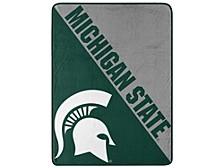 Michigan State Spartans Micro Raschel Halftone Blanket