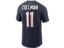 New England Patriots Men's Pride Name and Number Wordmark T-Shirt - Julian Edelman