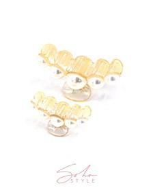 Imitation Pearl Hair Jaw Hair Clip, Set of 2