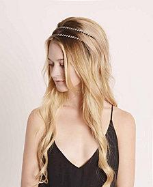 Soho Style Indigo Gems Crystal Headband, Set of 2