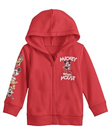 Little Boys Mickey Mouse Zip Hoodie