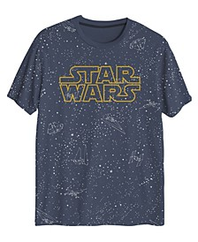 Big Boys Star Wars Galaxy All Over Print Stars T-shirt