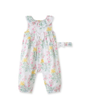 Little Me BABY GIRLS SCENTED GARDEN COVERALL SET, 2 PIECE