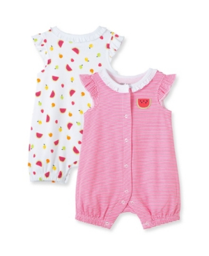 Little Me BABY GIRLS FRUIT ROMPERS, PACK OF 2