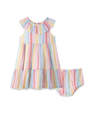 Little Me Dresses BABY GIRLS STRIPE SUNDRESS AND BLOOMER SET, 2 PIECE