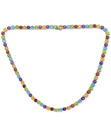 "Multi-Gemstone All-Around 18"" Statement Necklace (42-1/10 ct. t.w.) in Sterling Silver"