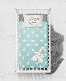 Baby Boys and Girls Bamboo Digital Print Fitted Crib Sheet