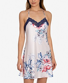 Corinne Floral-Print Chemise Nightgown